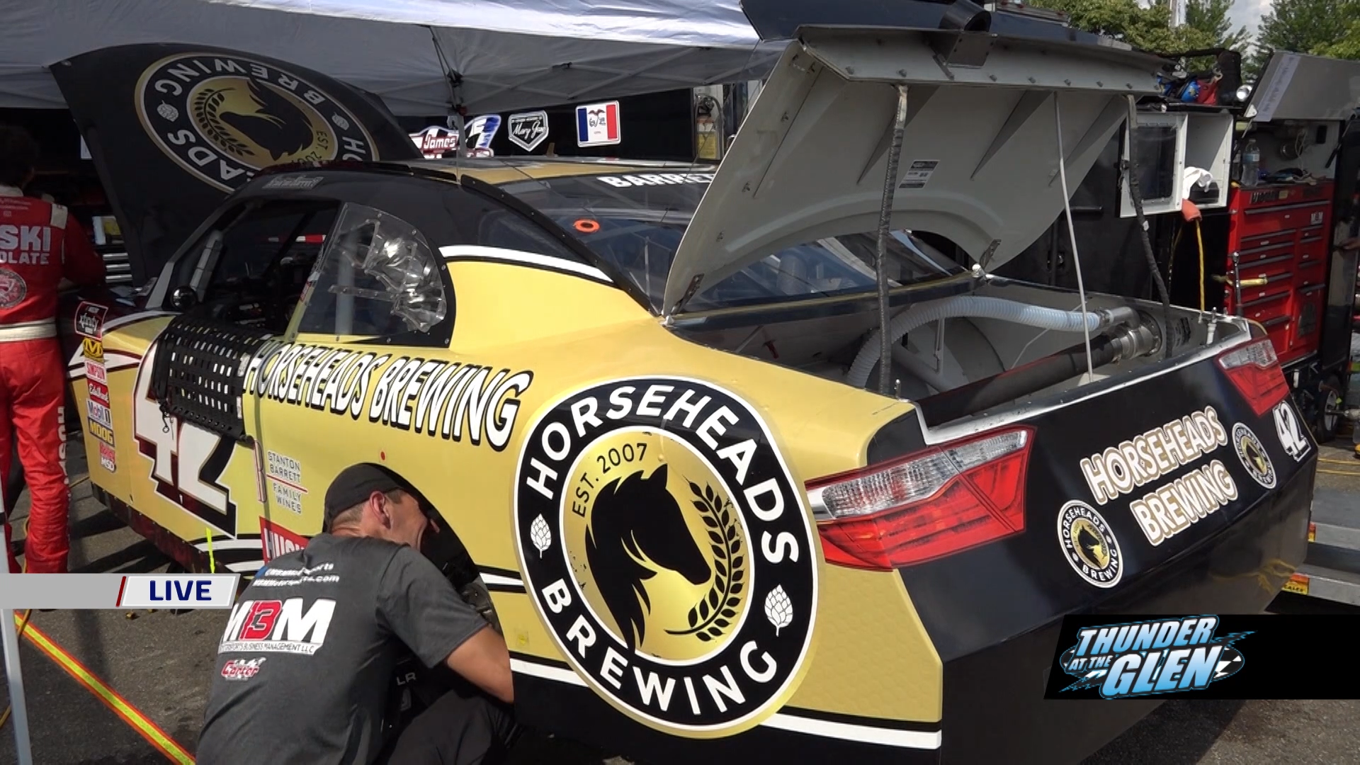 Horseheads Brewing racecar at Watkins Glen